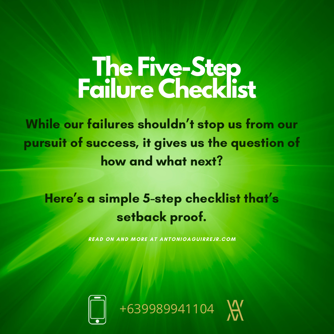 THE 5-STEP FAILURE CHECKLIST