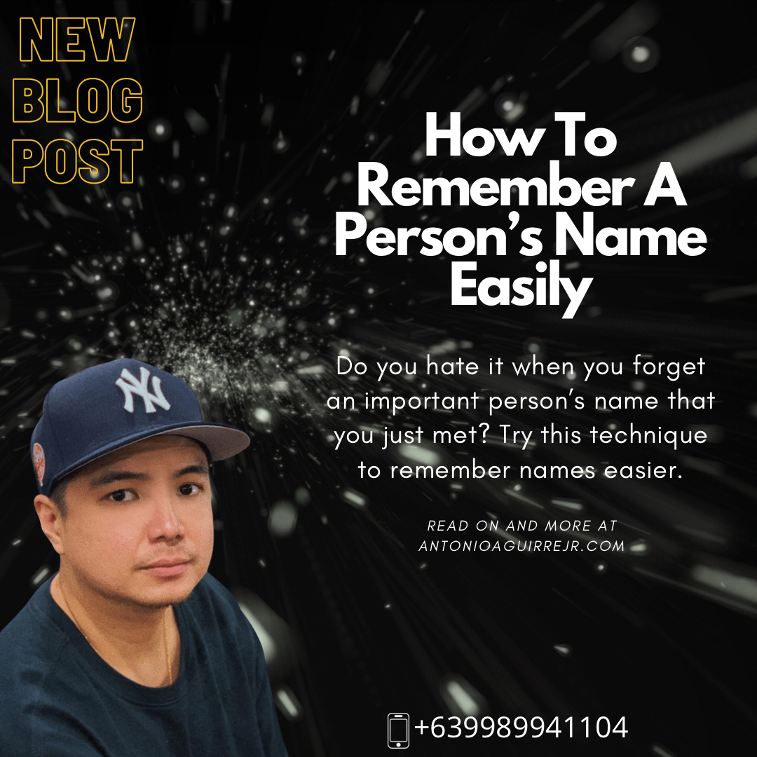 HOW TO REMEMBER A PERSON'S NAME EASILY