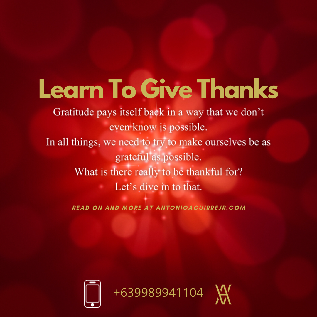 LEARN TO GIVE THANKS