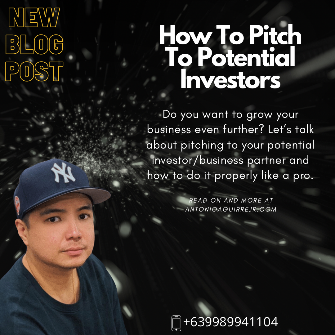 HOW TO PITCH TO POTENTIAL INVESTORS