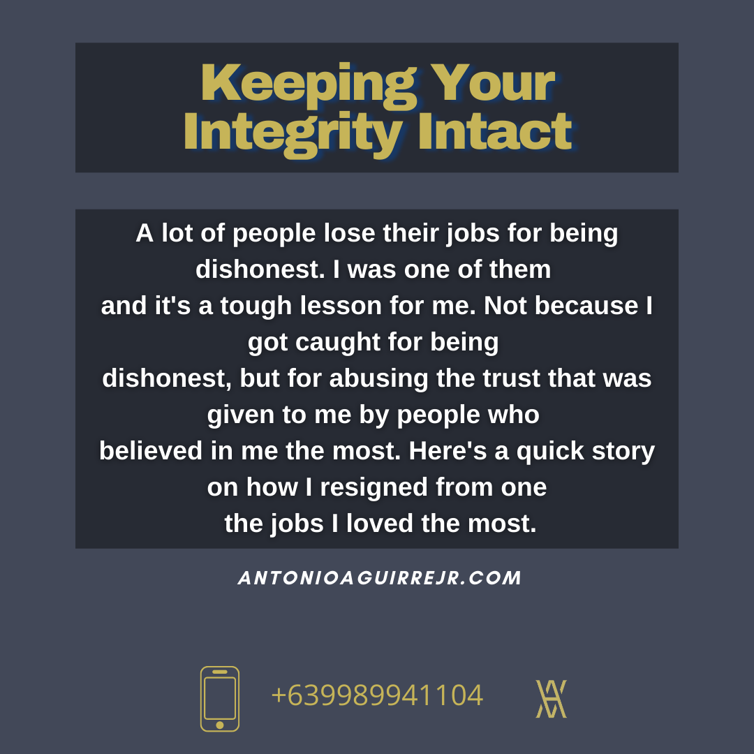 KEEPING YOUR INTEGRITY INTACT