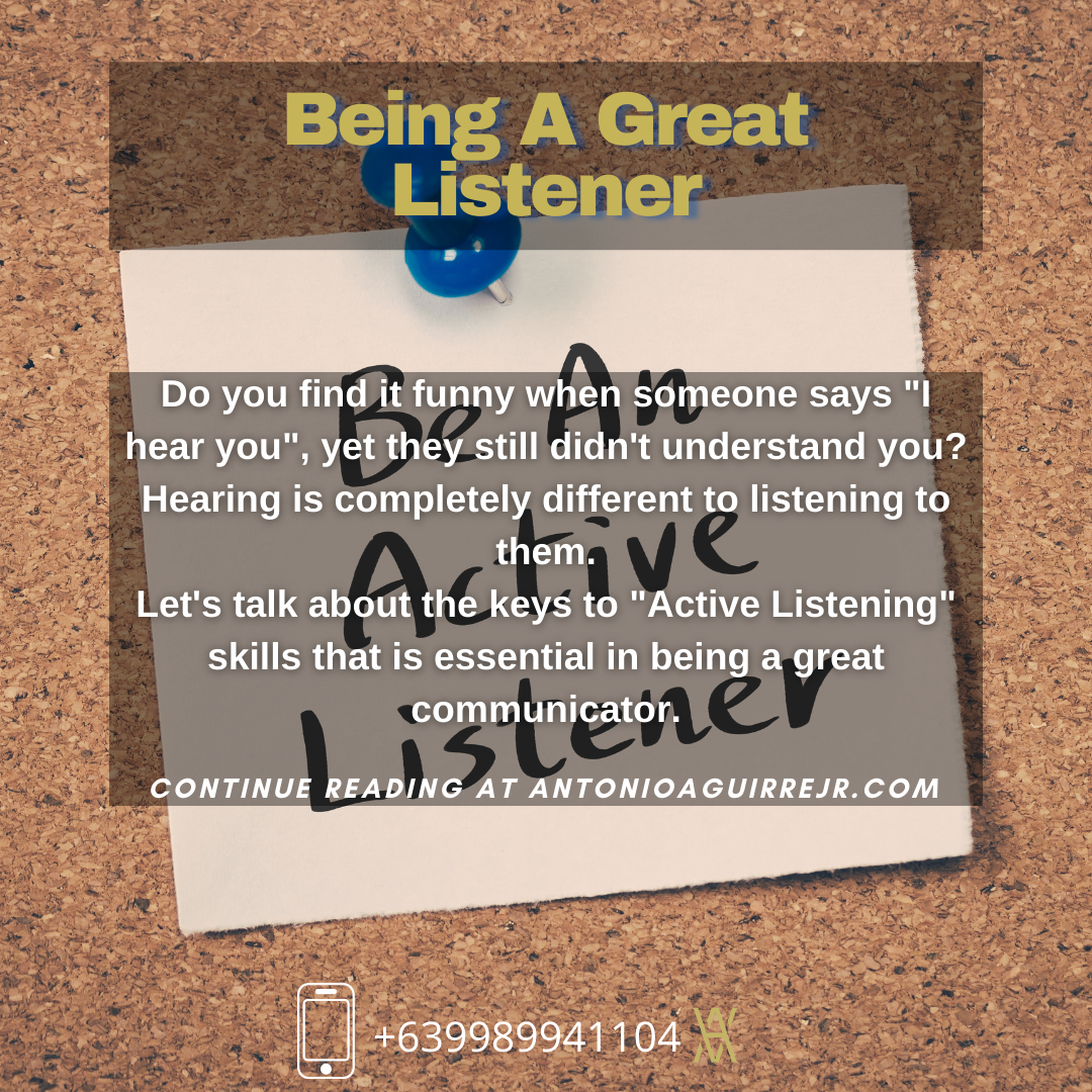 BEING A GREAT LISTENER