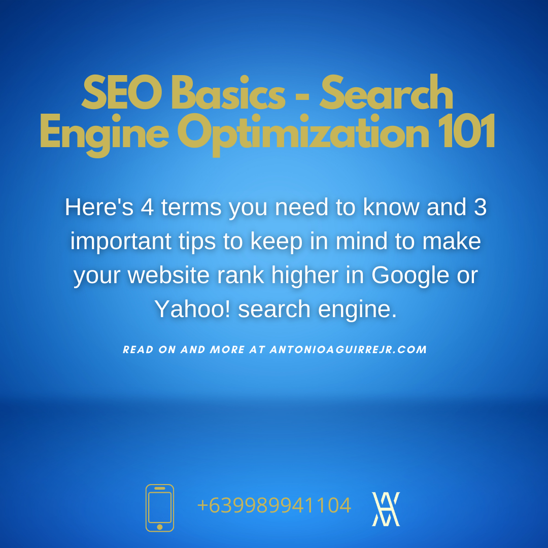 SEO BASICS (SEARCH ENGINE OPTIMIZATION)