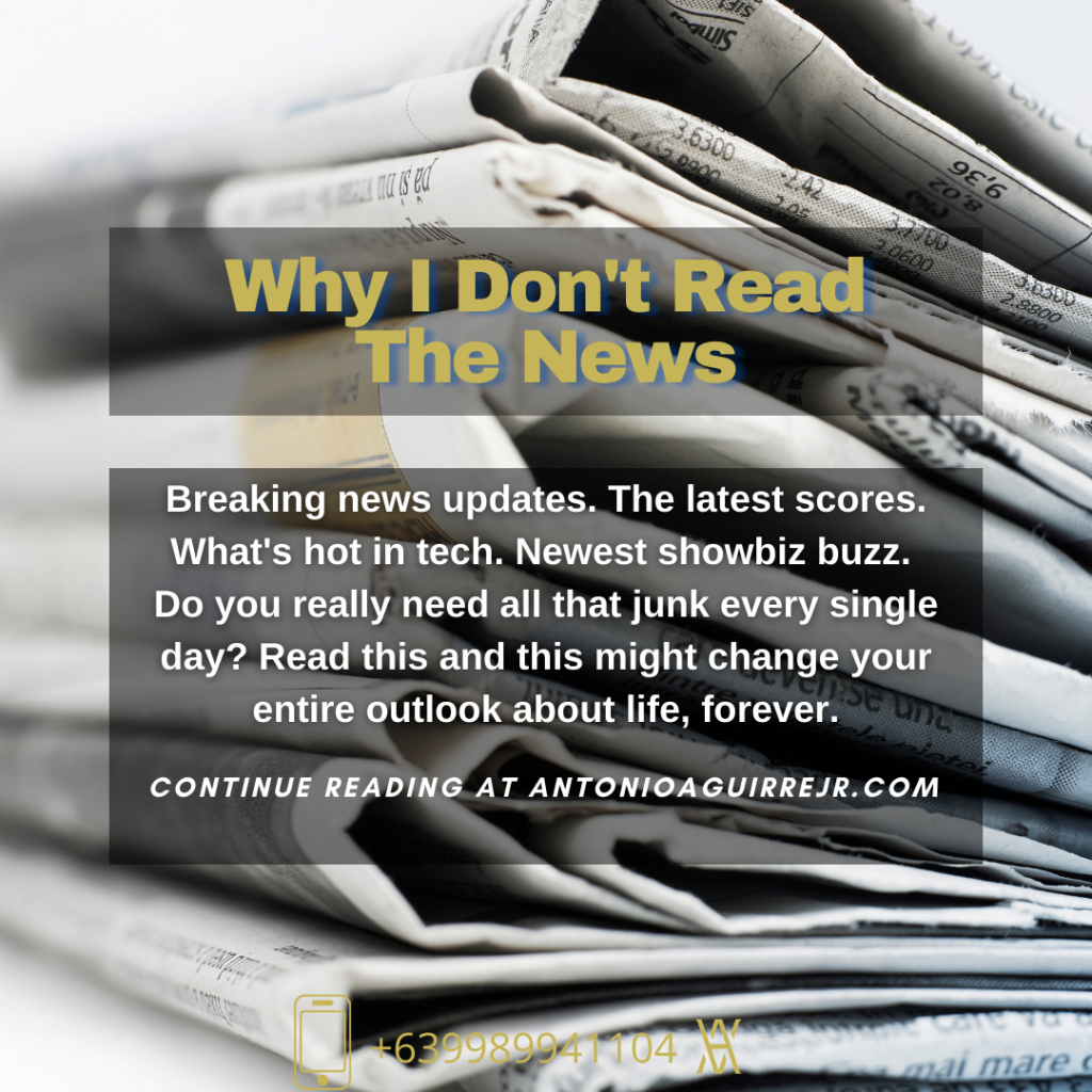 Why I don't read the news